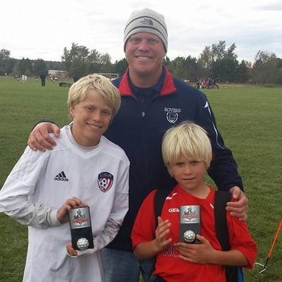 Josh Van Howe with kids