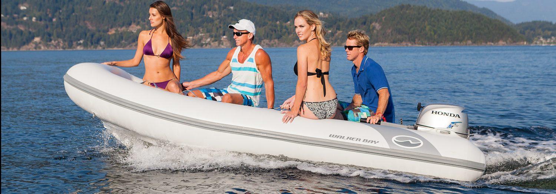 couples riding on walker bay supertender